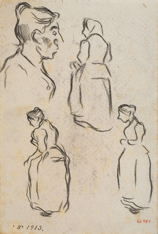 Isidre Nonell - Figure sketches - Circa 1894