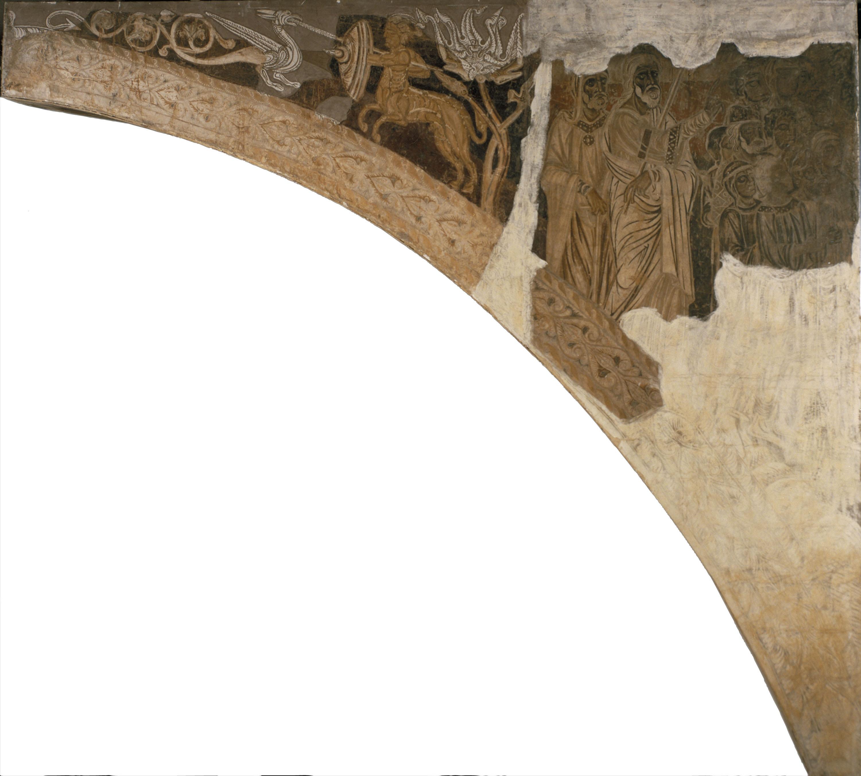 Mestre de la sala capitular de Sixena - Moisès i Aaron mostren al poble jueu la columna de foc, de la sala capitular de Sixena - Entre 1196-1208