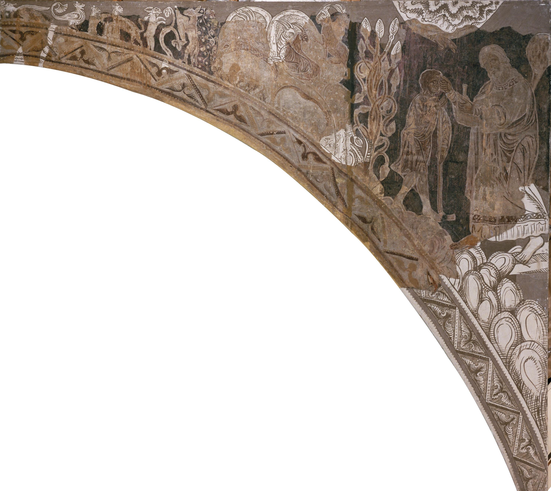 Mestre de la sala capitular de Sixena - Unció de David per Samuel, de la sala capitular de Sixena - Entre 1196-1208