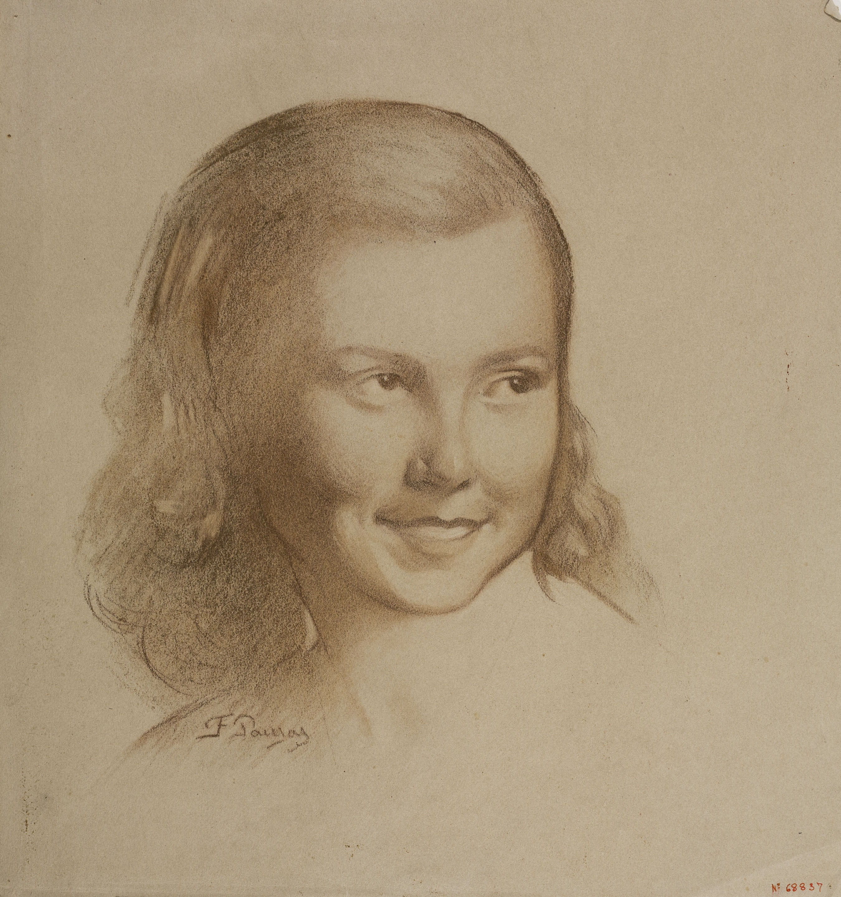 Francesc Pausas - Retrat de nena - Cap a 1930-1944