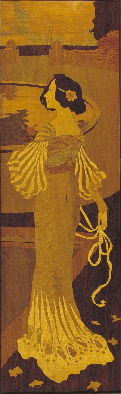 Gaspar Homar - Dama en un jardí - Cap a 1905
