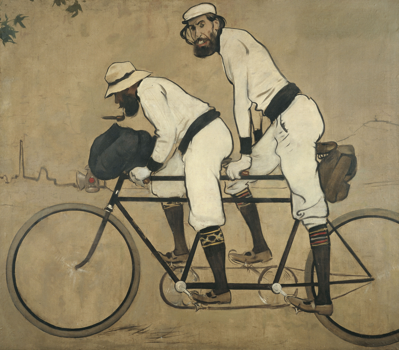 Ramon Casas - Ramon Casas i Pere Romeu en un tàndem - Barcelona, 1897
