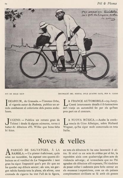 Ramon Casas - Ramon Casas y Pere Romeu en un tándem - Barcelona, 1897 [3]