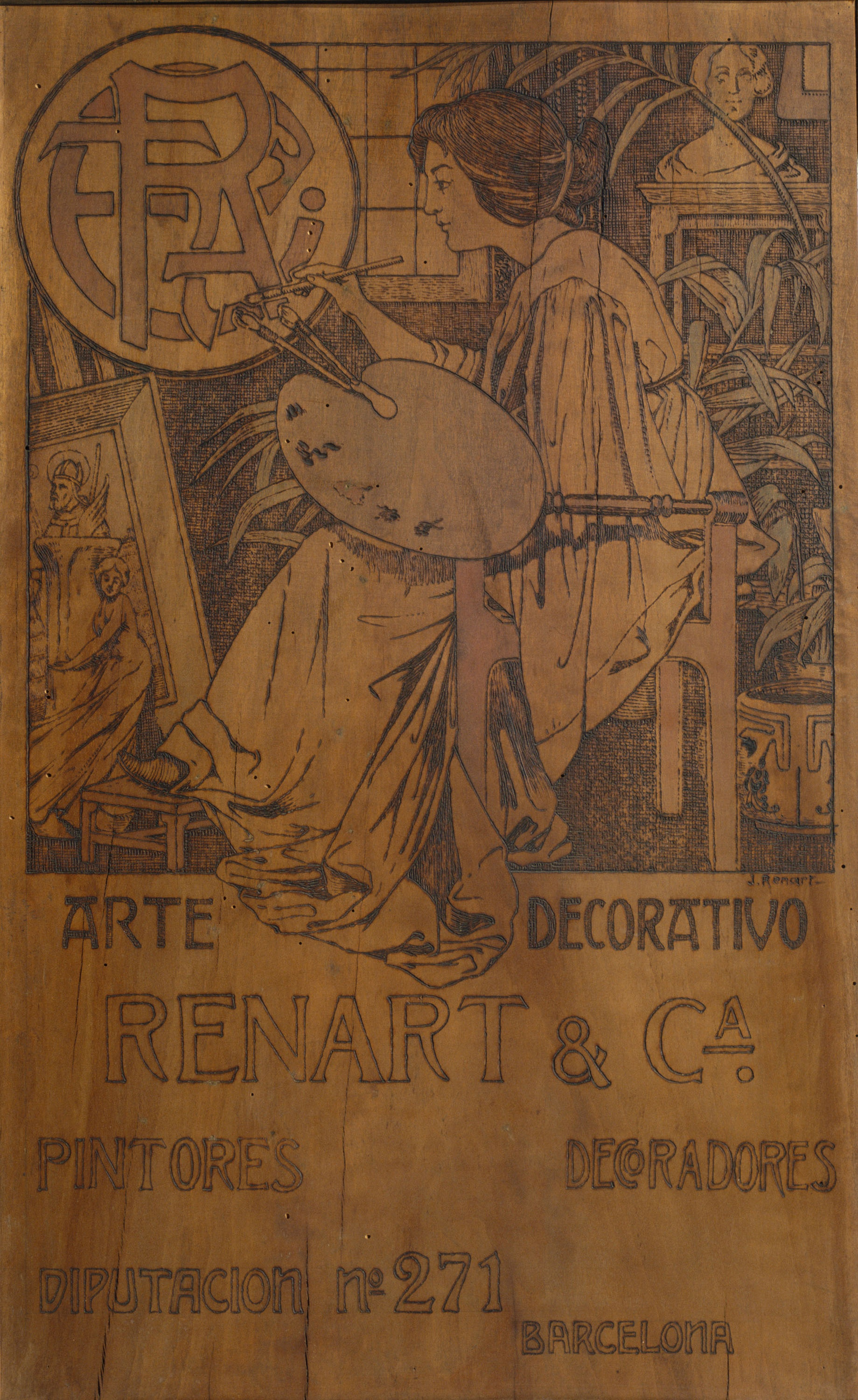 Joaquim Renart - Commercial advertisement of Casa Renart - 1906-1907