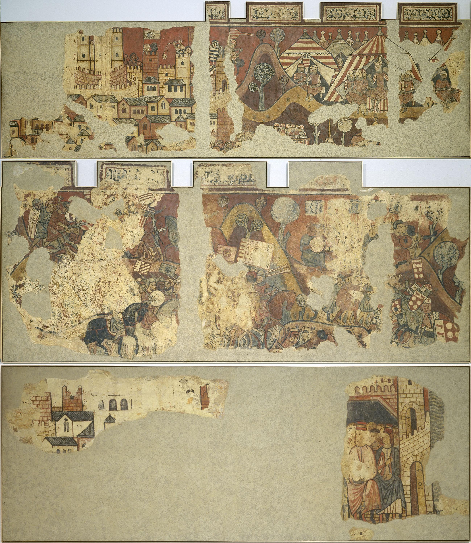 Mestre de la conquesta de Mallorca - Pintures murals de la conquesta de Mallorca - 1285-1290