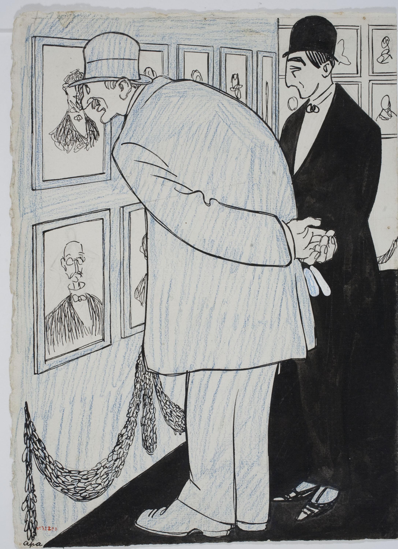 Feliu Elias - Davant dels retrats d'en Casas - Cap a 1909