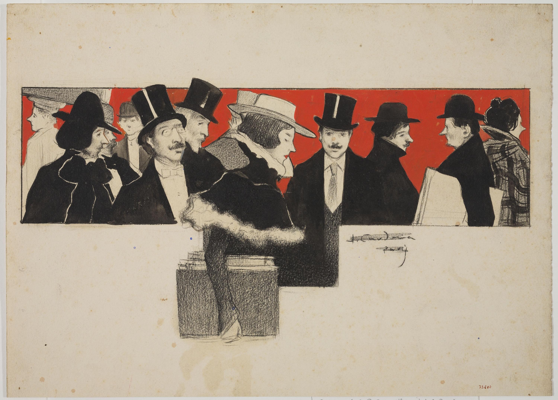 Joan Cardona - Grupo de personas elegantes - Hacia 1901