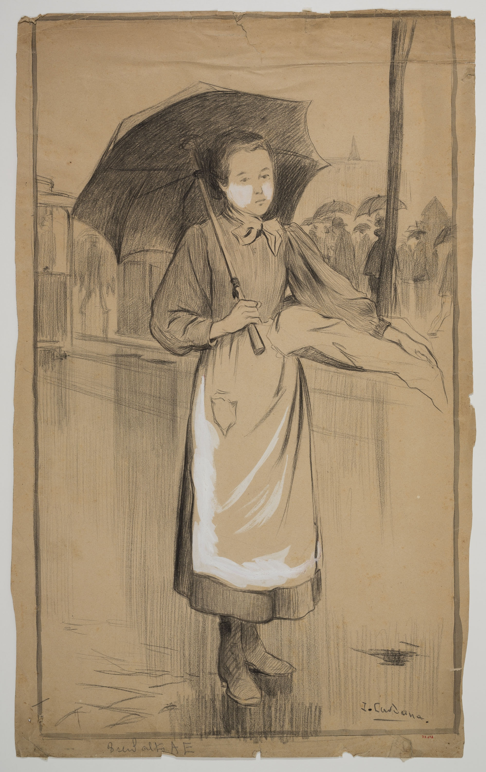 Joan Cardona - Girl with an umbrella - Circa 1902
