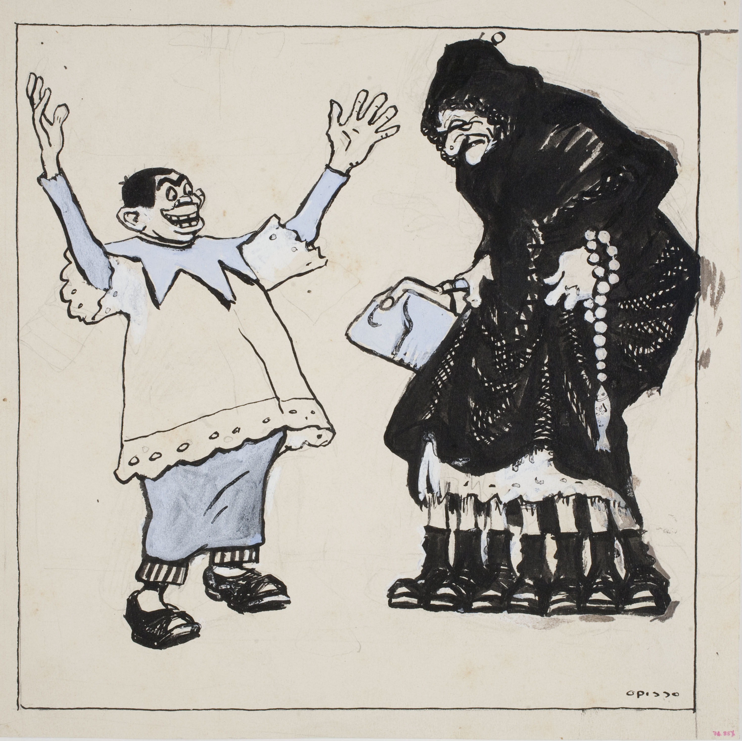 Ricard Opisso - Satire of Lent - Circa 1900