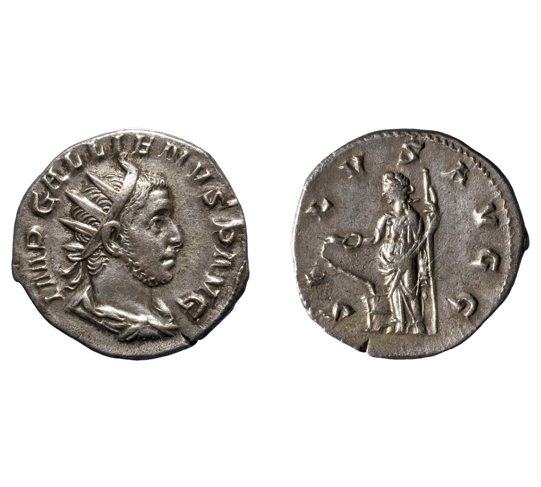 Gal·liè, antoninià de Milà, 257-258 (MNAC/GNC 101355-N)
