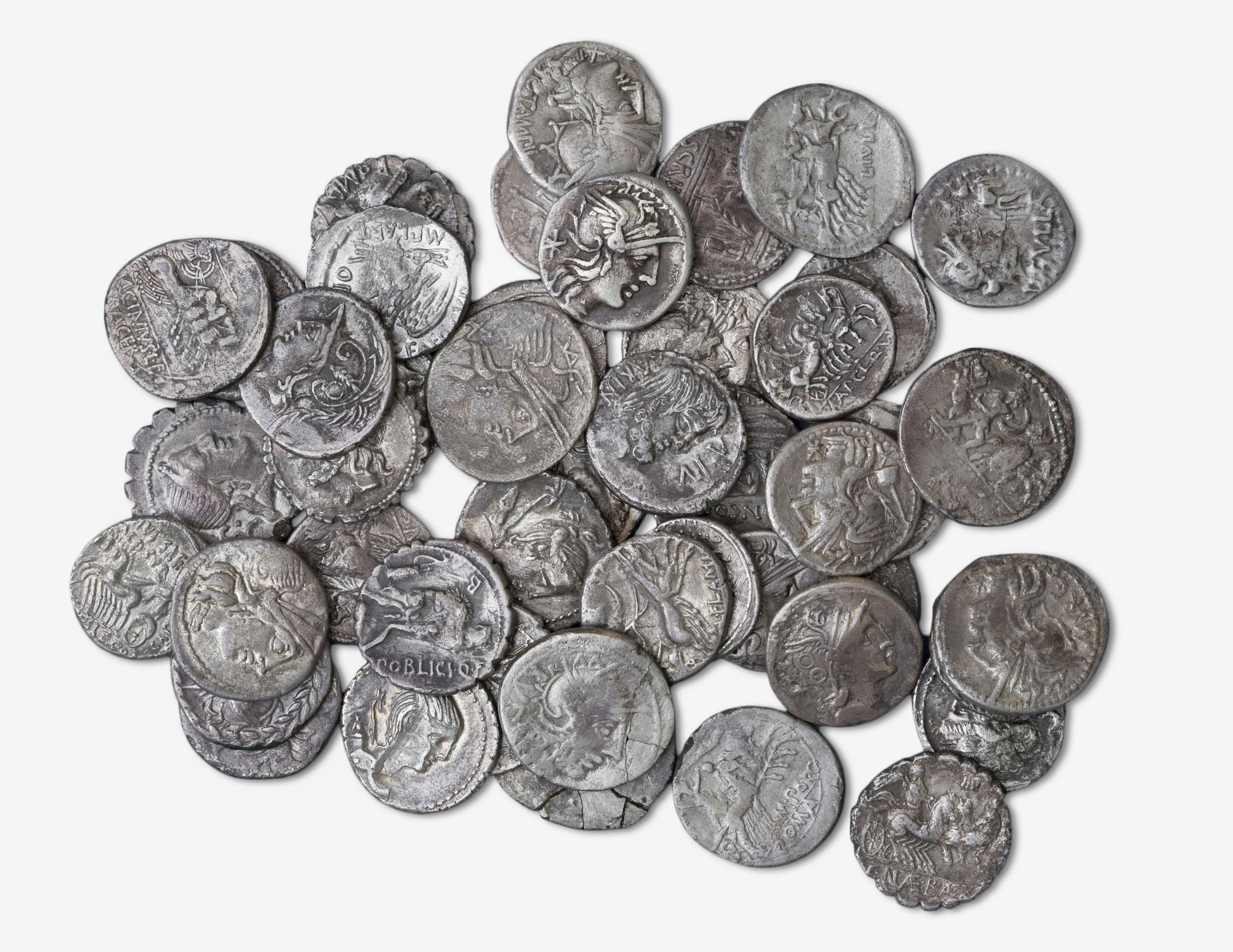 República romana - Tresor de la cisterna 6 al sud de la neàpolis d'Emporion -  206-54 aC