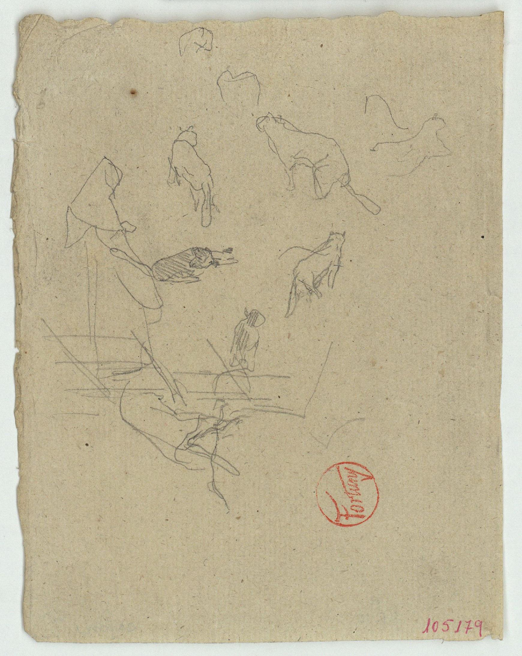 Marià Fortuny - Esbós de gats - Cap a 1867-1870