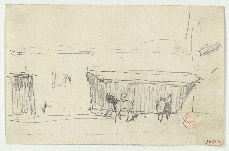 Marià Fortuny - Croquis de cavalls en un estable - Cap a 1867-1872