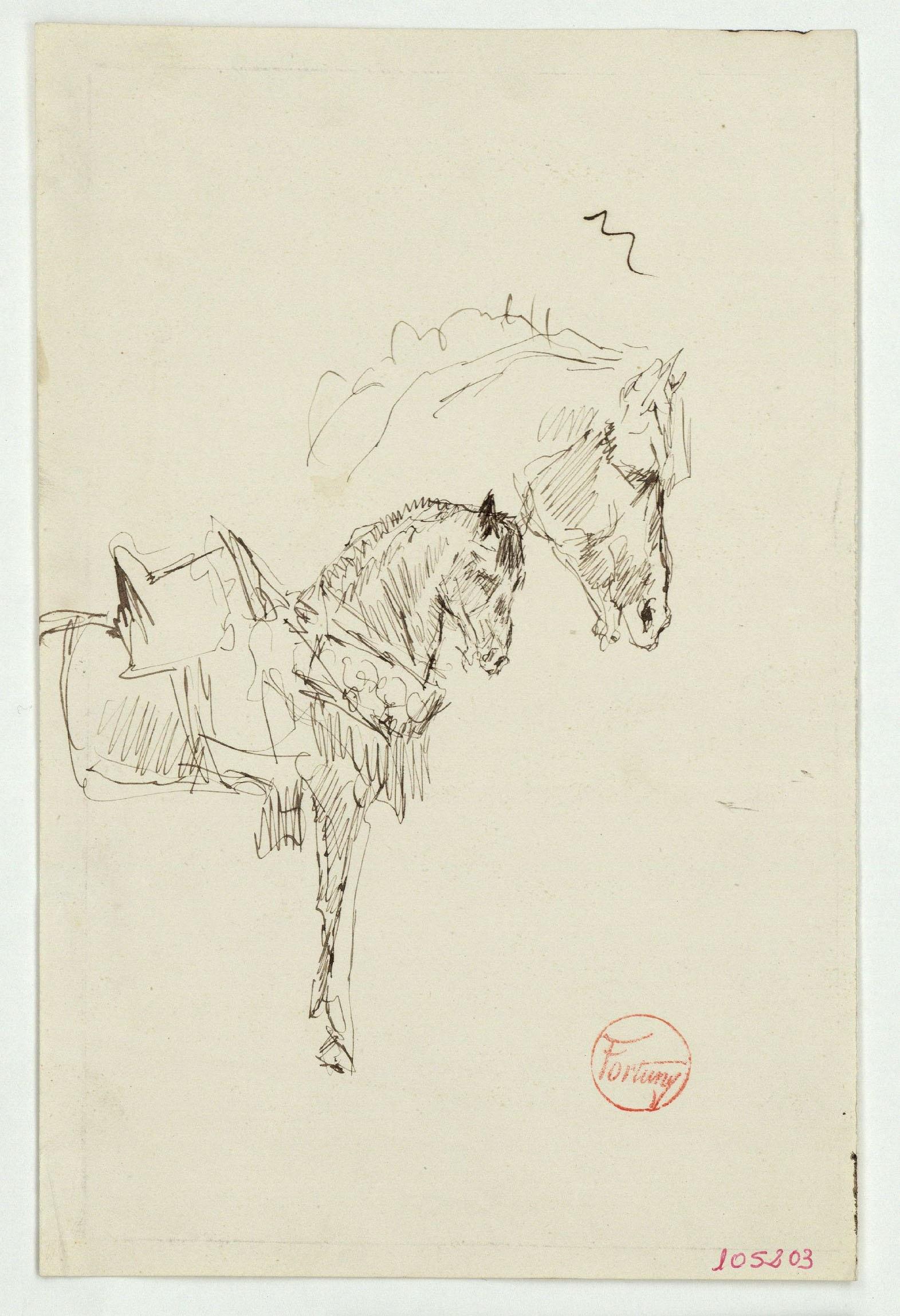 Marià Fortuny - Estudi de cavall - Cap a 1860-1862