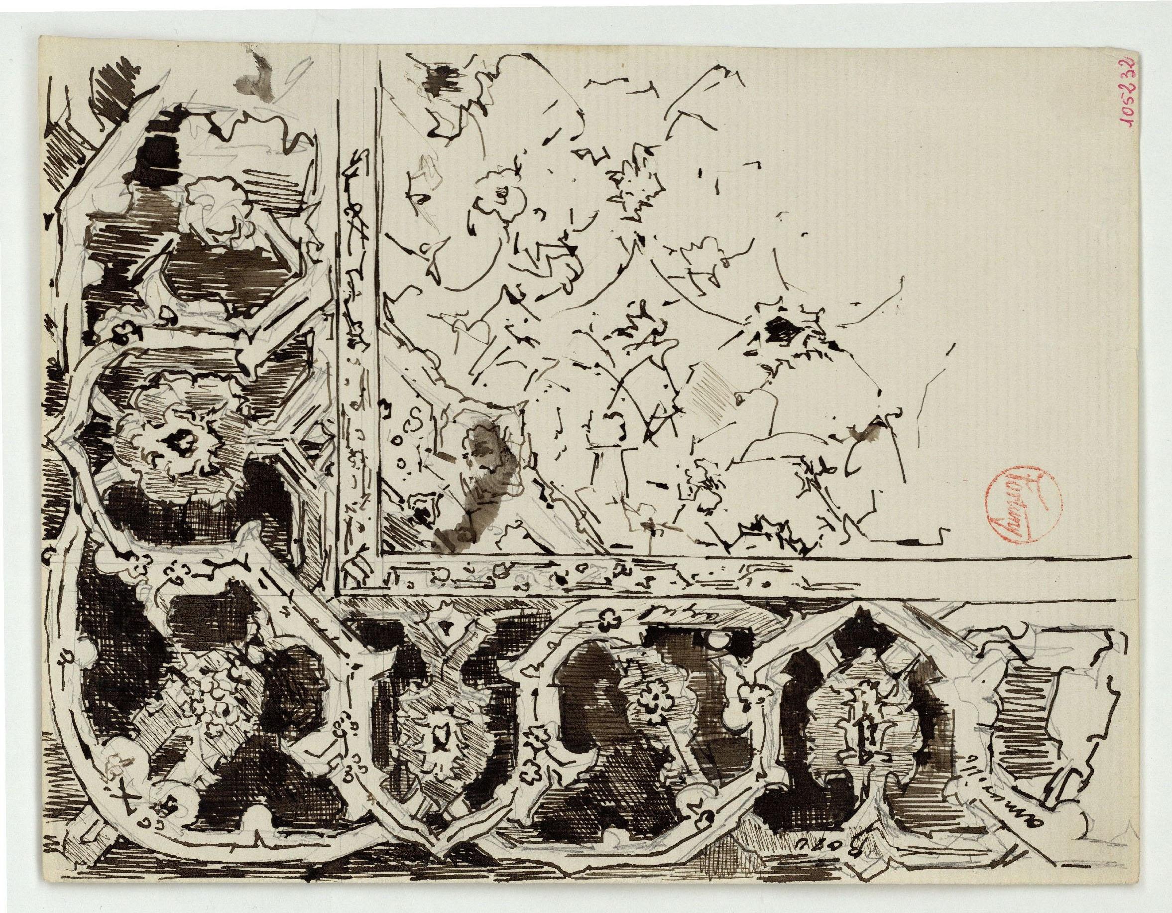 Marià Fortuny - Detall de tapís d'estil musulmà - Cap a 1870-1872