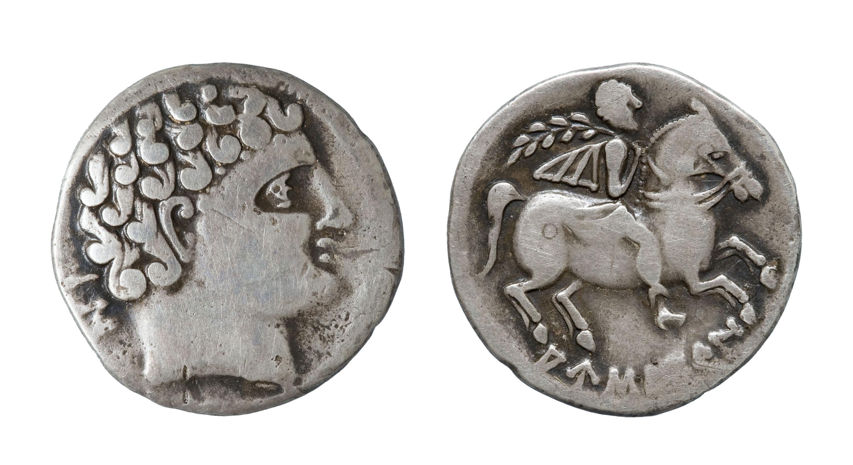 Ausesken - Denari - Mitjan segle II aC