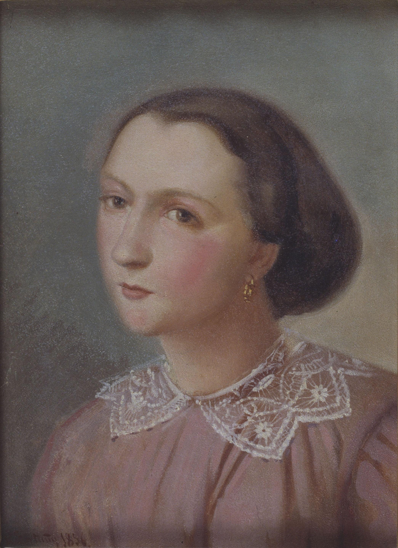 Marià Fortuny - Retrat de Flora Esteve i Nadal - Barcelona, 1856