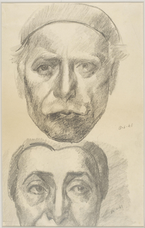 Juli González - Auto-portrait et Marie-Thérèse (Autoretrat i Marie-Thérèse) - 1941