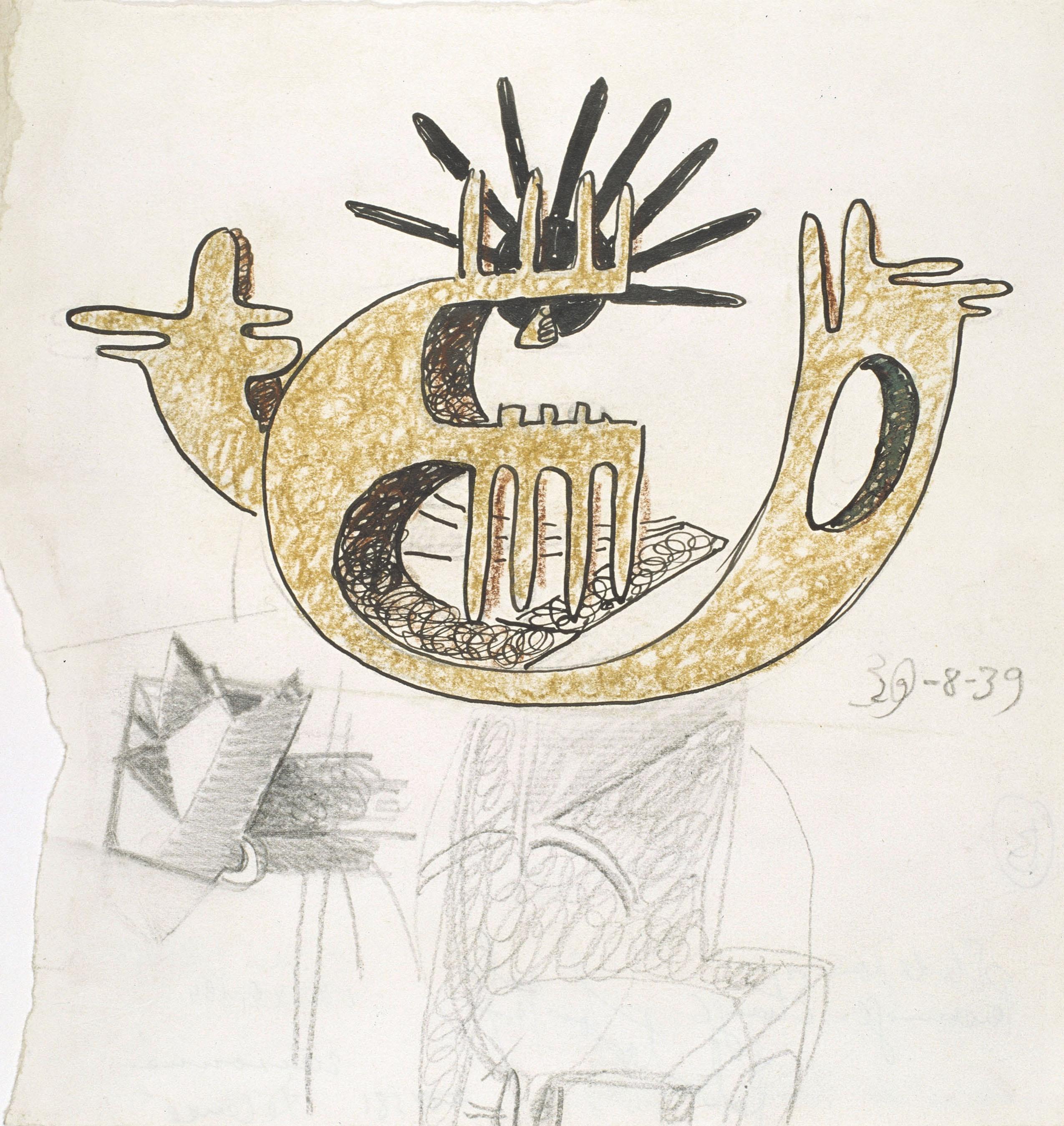 Juli González - Estudi per a personatge estrany (Étude pour personnage étrange) - 1939