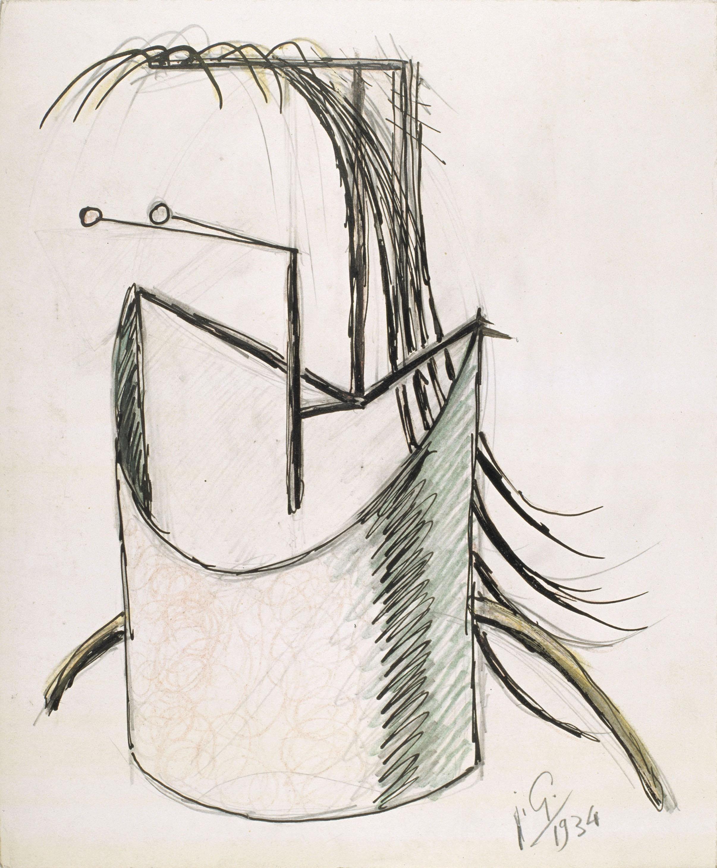 Juli González - Cap d'insecte (Tête d'insecte) - 1934
