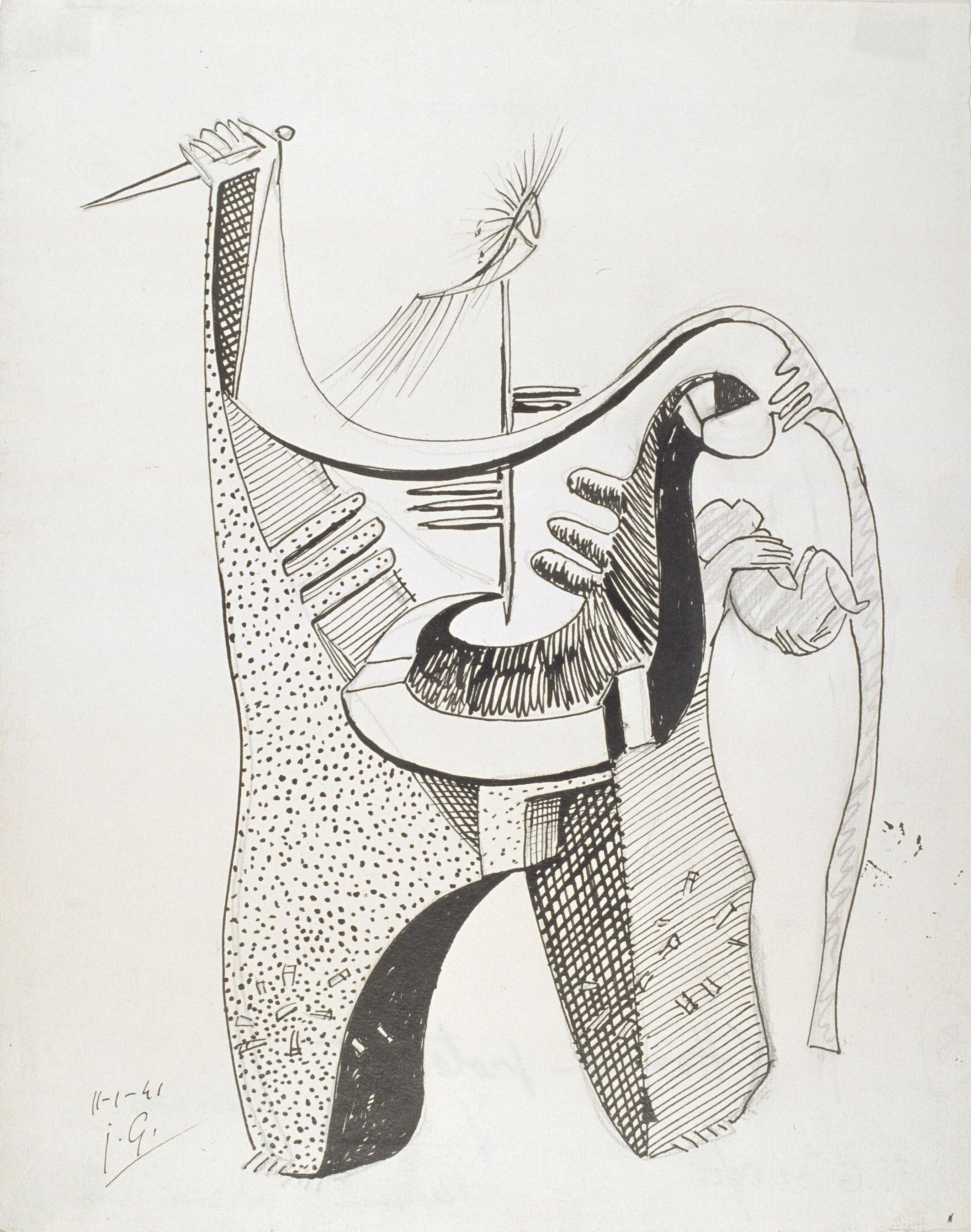 Juli González - L'home protector (L'homme protecteur) - 1941