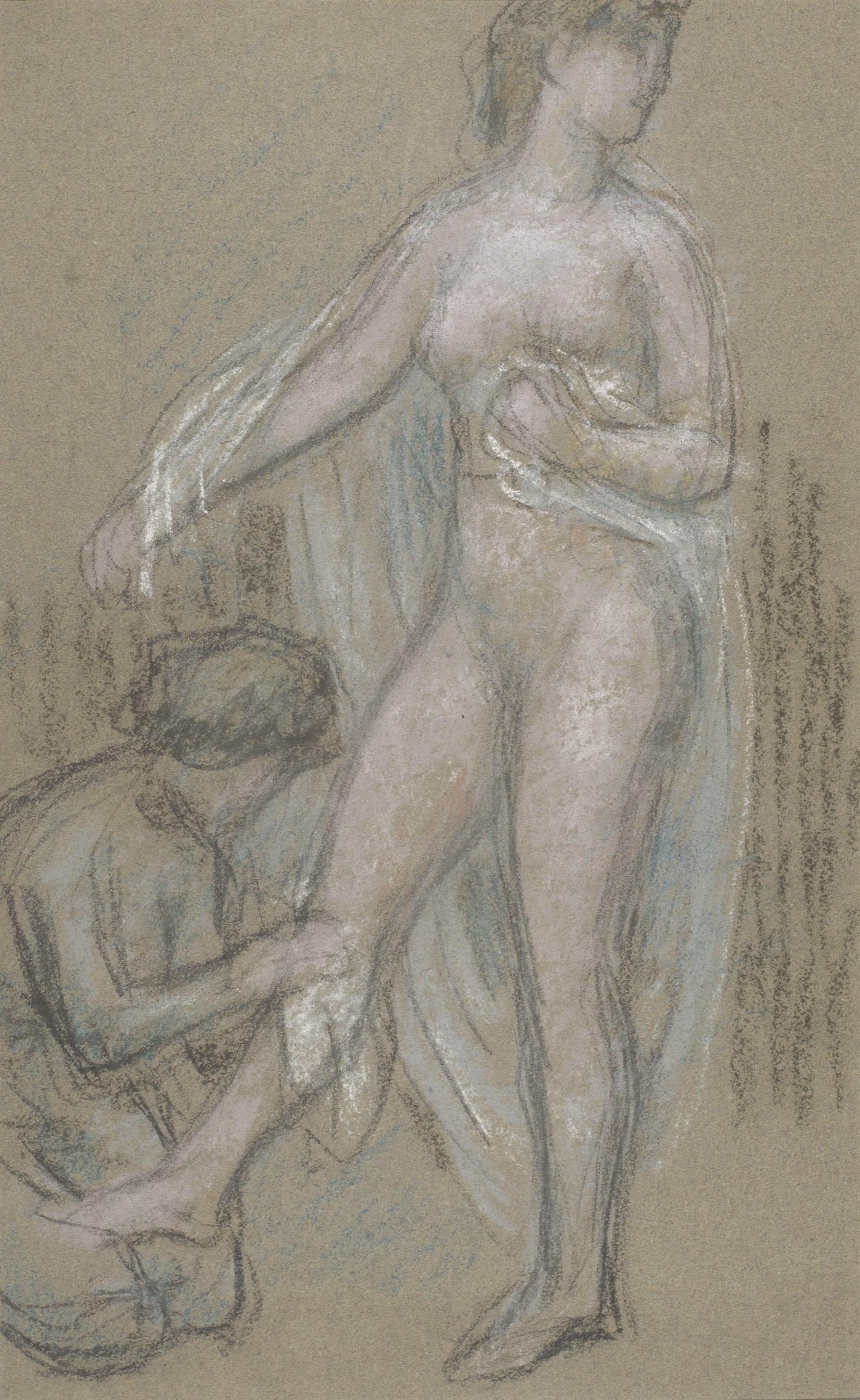 Juli González - Nu amb vel vaporós (Nu au voile vaporeux) - Cap a 1910-1918