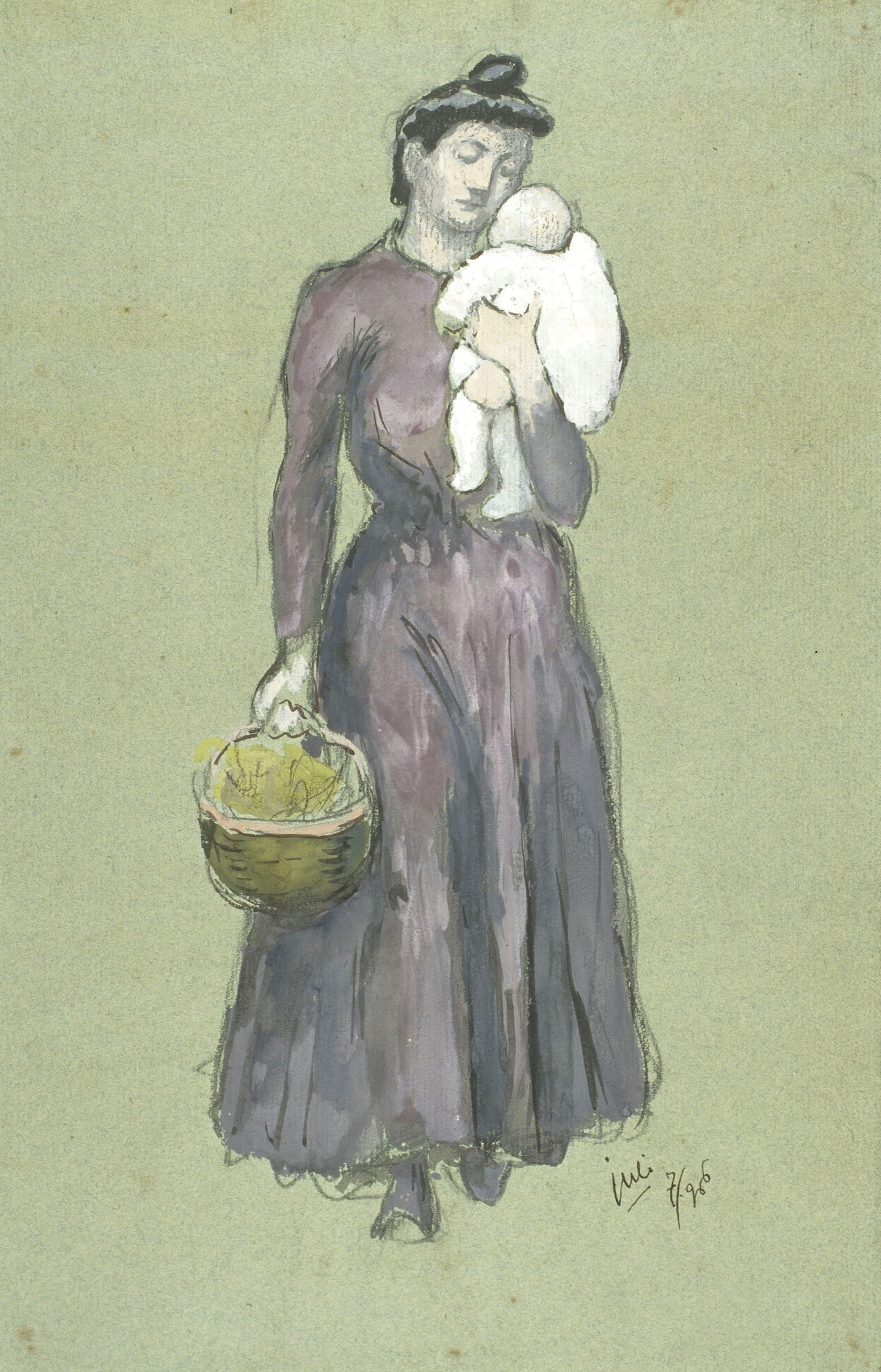 Juli González - Maternitat amb cistell (Maternité au panier) - 1906