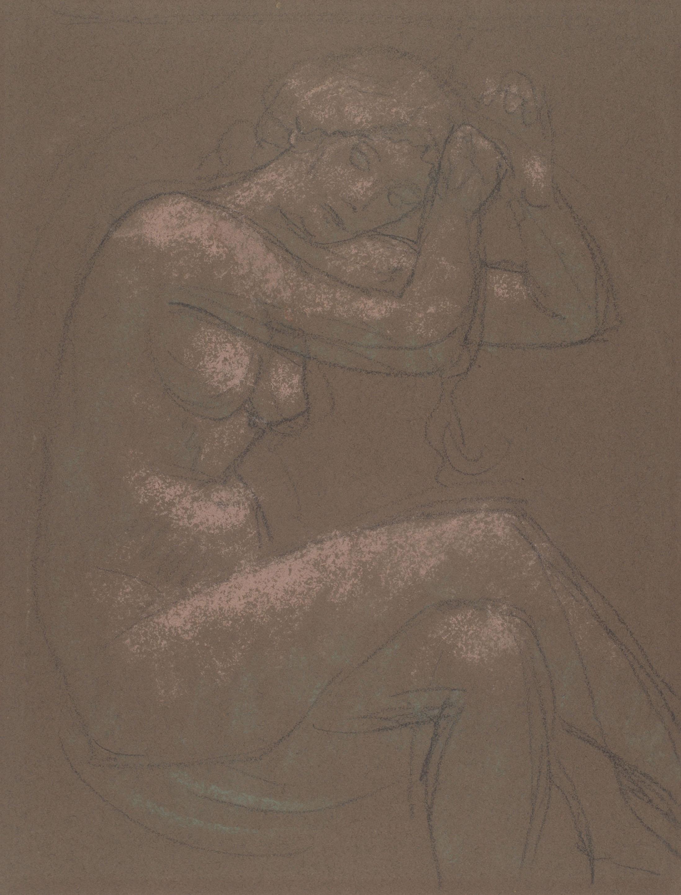 Juli González - Nu assegut amb els ulls clucs (Nu assis, yeux baissés) - Cap a 1914-1917