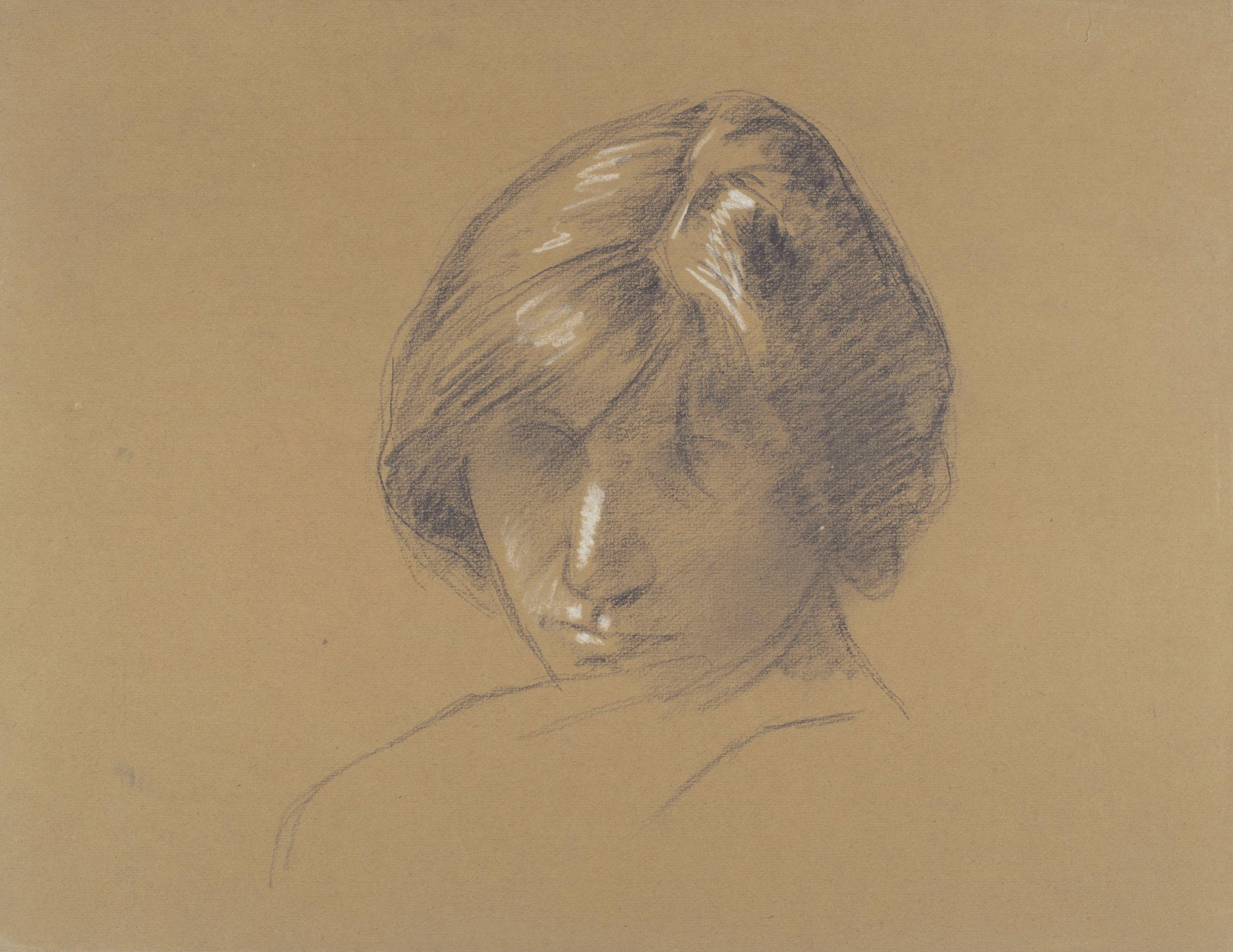 Juli González - Retrat de Pilar (Portrait de Pilar) (anvers). Nu femení (revers) - Cap a 1913-1918