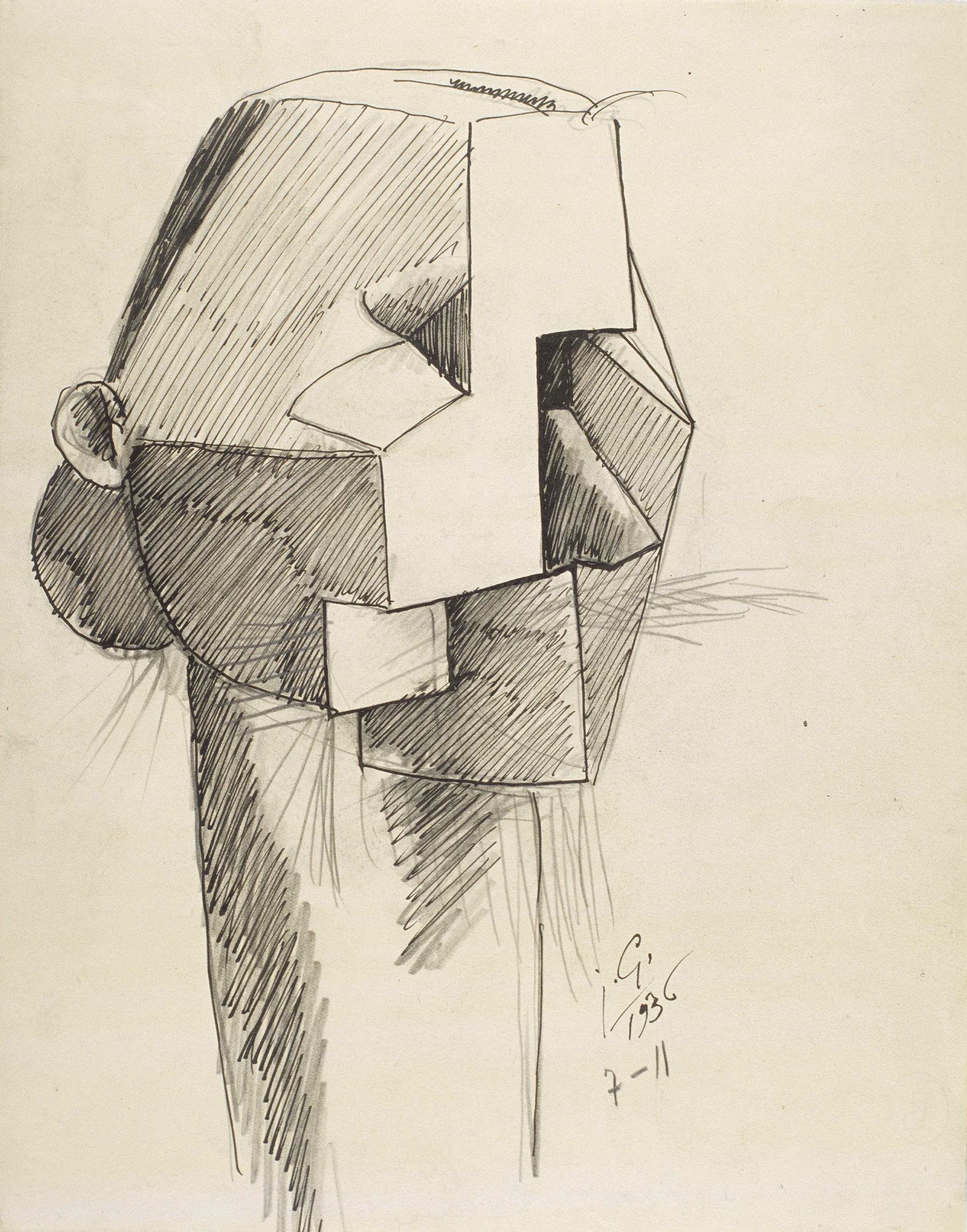Juli González - La dona amb barba (La femme à la barbe) - 1936