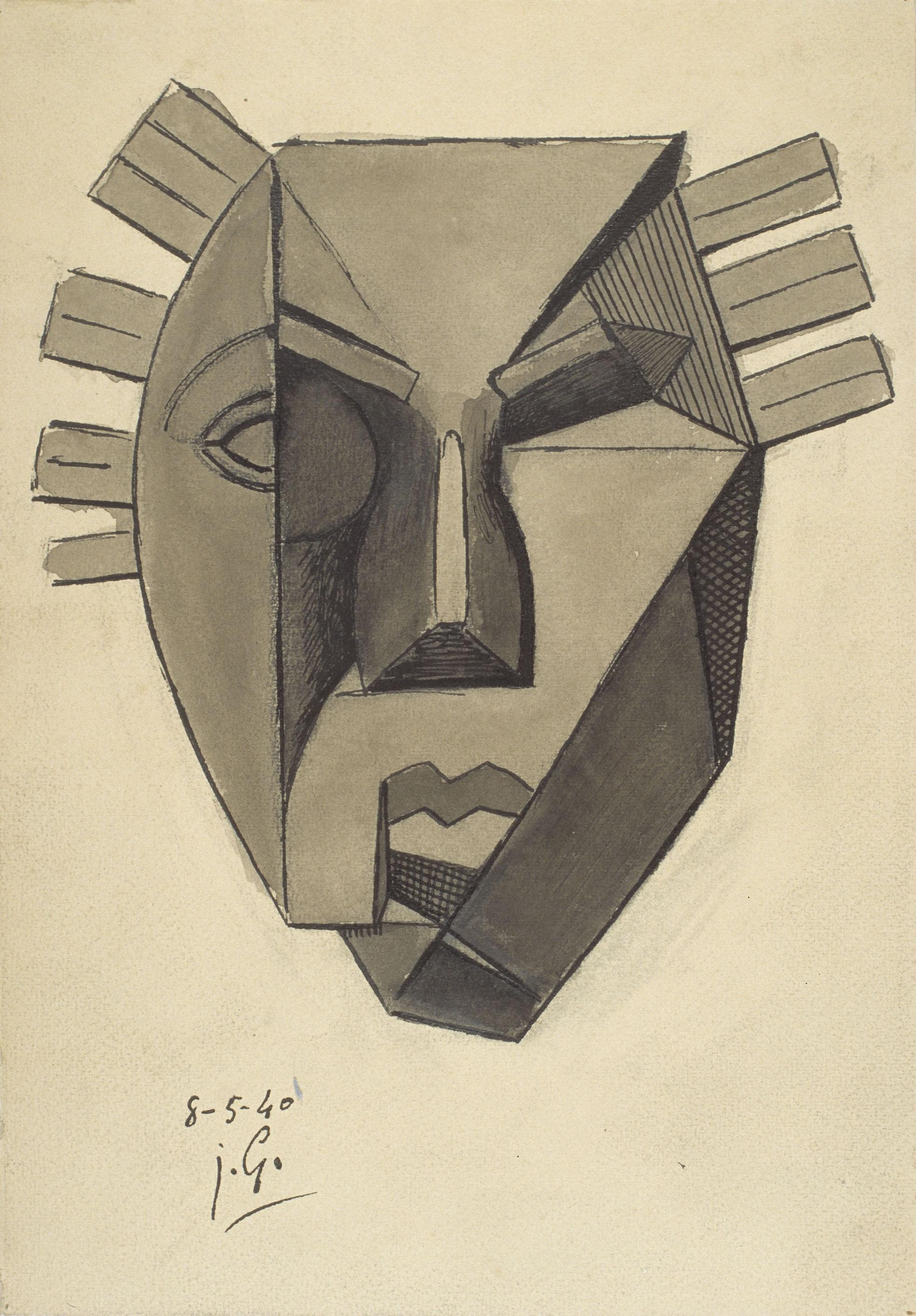 Juli González - Màscara austera (Masque rigoreux) - 1940