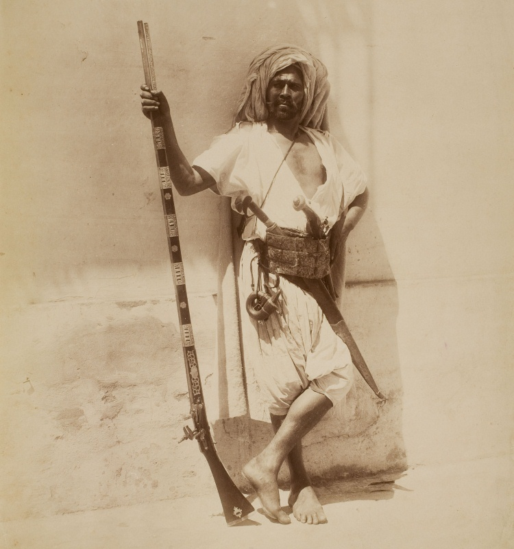 P. Famin & Cie (Alger), Guerrier arabe (Kroumir), cap a 1880