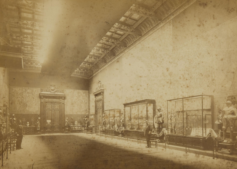 Pau Audouard - Exposicion Universal de Barcelona 1888. Palacio de Bellas Artes. Instalacion de la Real Casa. Seccion derecha del Salón - 1888