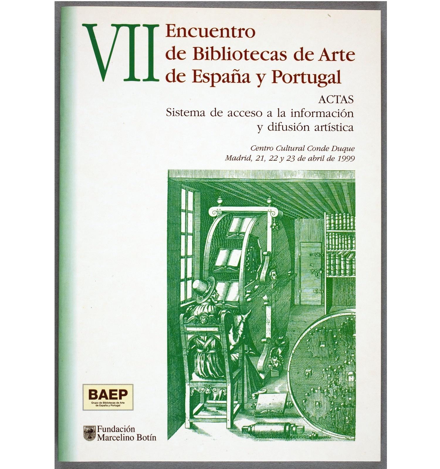 Actes del VII Encuentro de Bibliotecas de Arte de España y Portugal