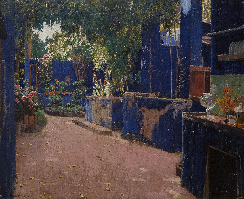 Santiago Rusiñol - Pati blau - 1913