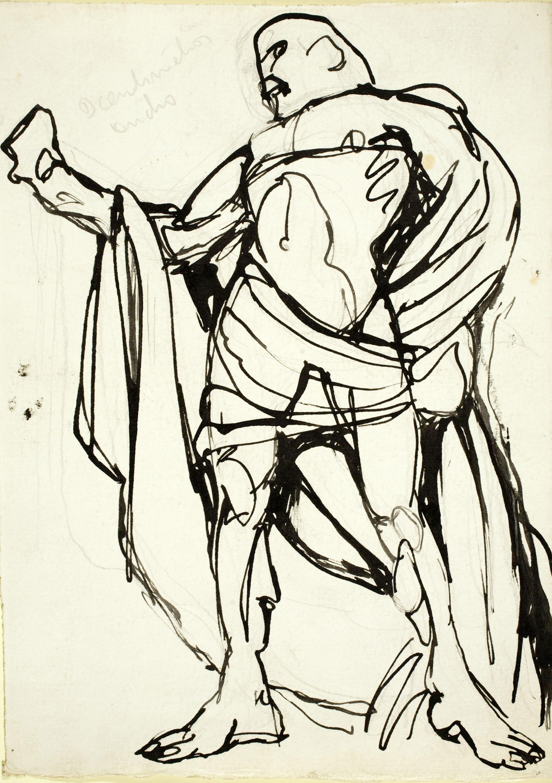 Ismael Smith - Figura masculina amb indumentària grega - Cap a 1908