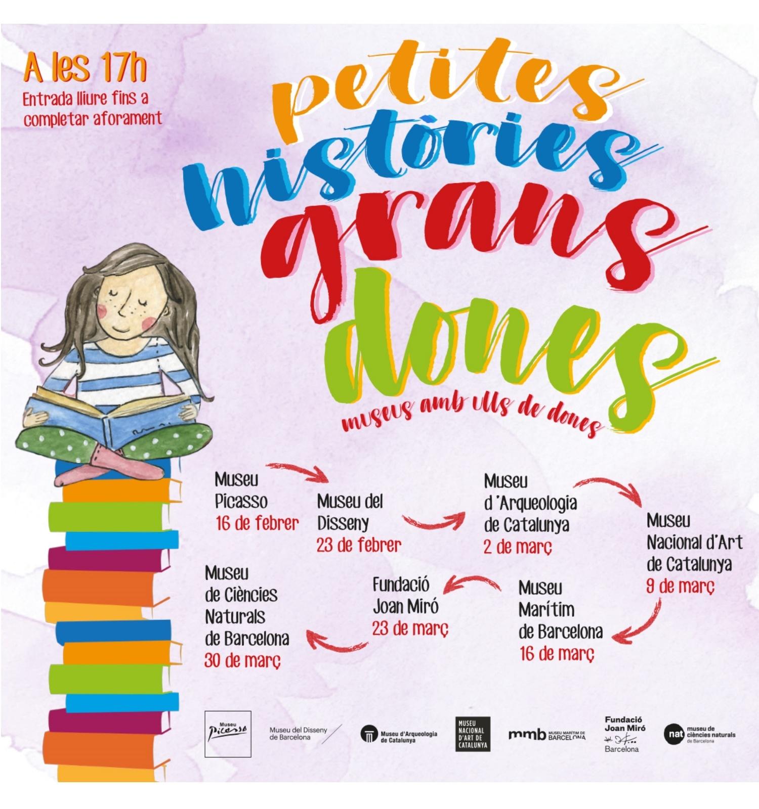 7 museus de Barcelona organitzen conta contes infantils sobre dones investigadores i creadores