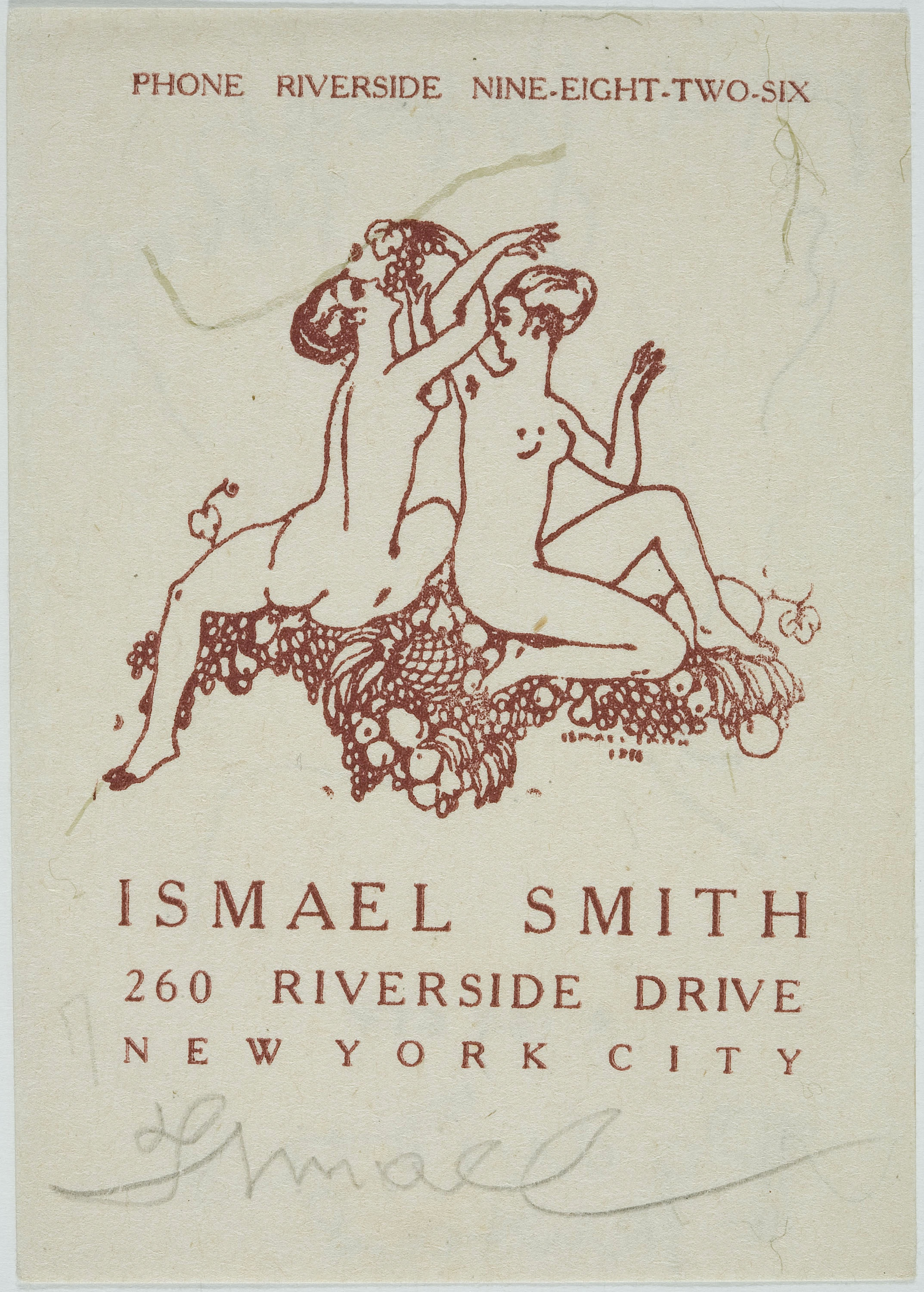 Ismael Smith - Ismael Smith (targeta de visita) - 1919
