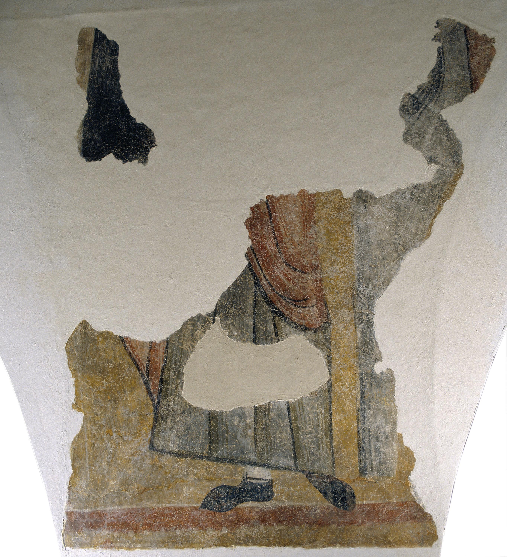 Mestre de Boí - Vestigis d'una figura de sant de Boí - Cap a 1100
