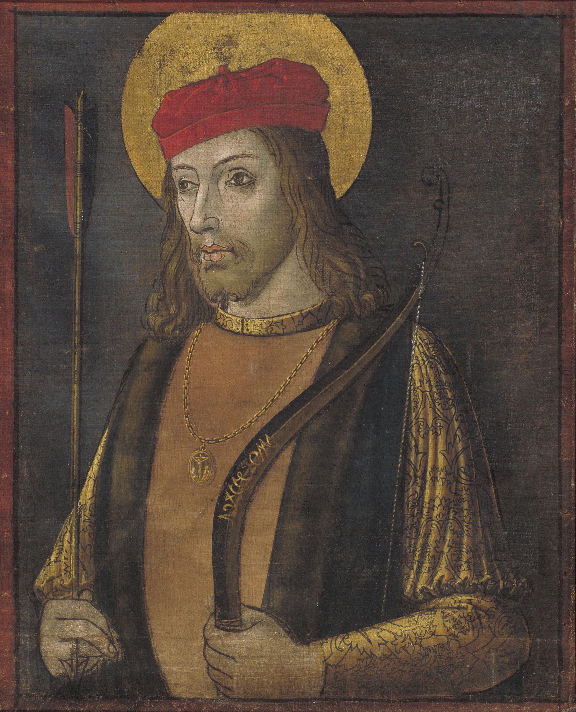 Pintures de les portes de l'orgue de la catedral de la Seu d'Urgell