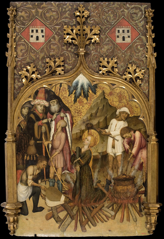Bernat Martorell - Martiri de santa Llúcia a la foguera - Cap a 1435