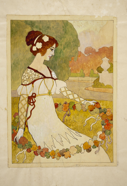 Joan Busquets - Marquetry panel - Between 1903-1907