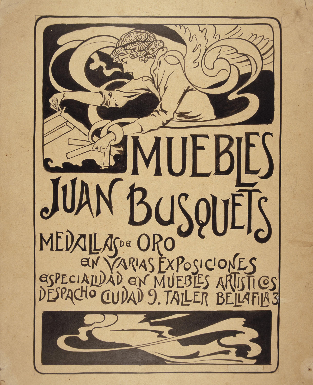 Joan Busquets - Estudi per a «Muebles Juan Busquets» - Cap a 1900