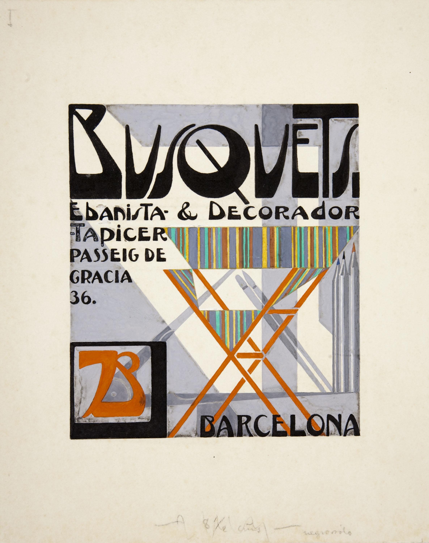 Joan Busquets - Design for a visiting card: 'Busquets ebanista & decorador' - Circa 1925-1930