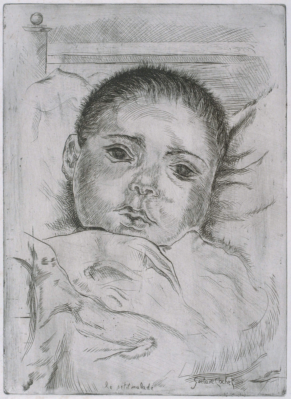 Gustavo Cochet - Le petit malade - No datat