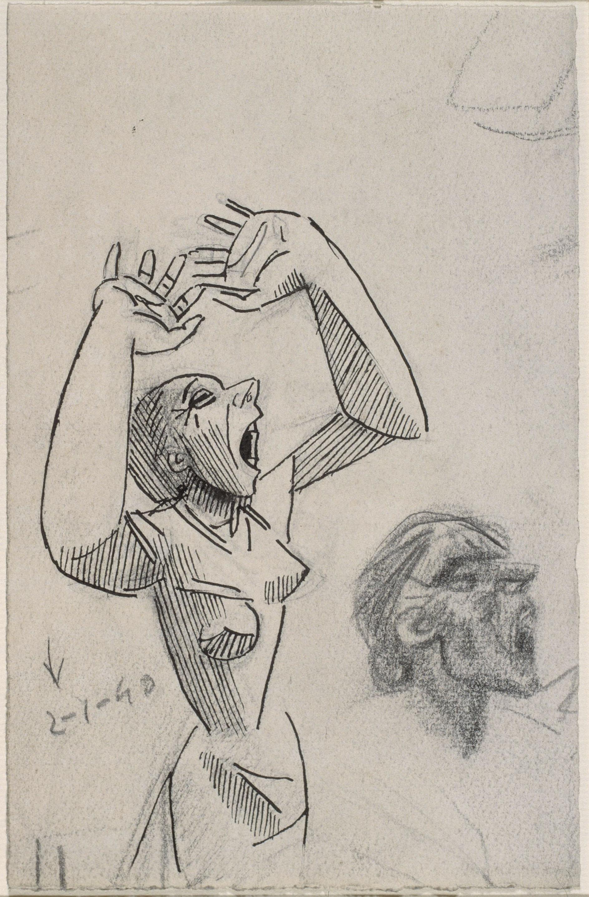 Juli González - Estudis de dona cridant - 1940