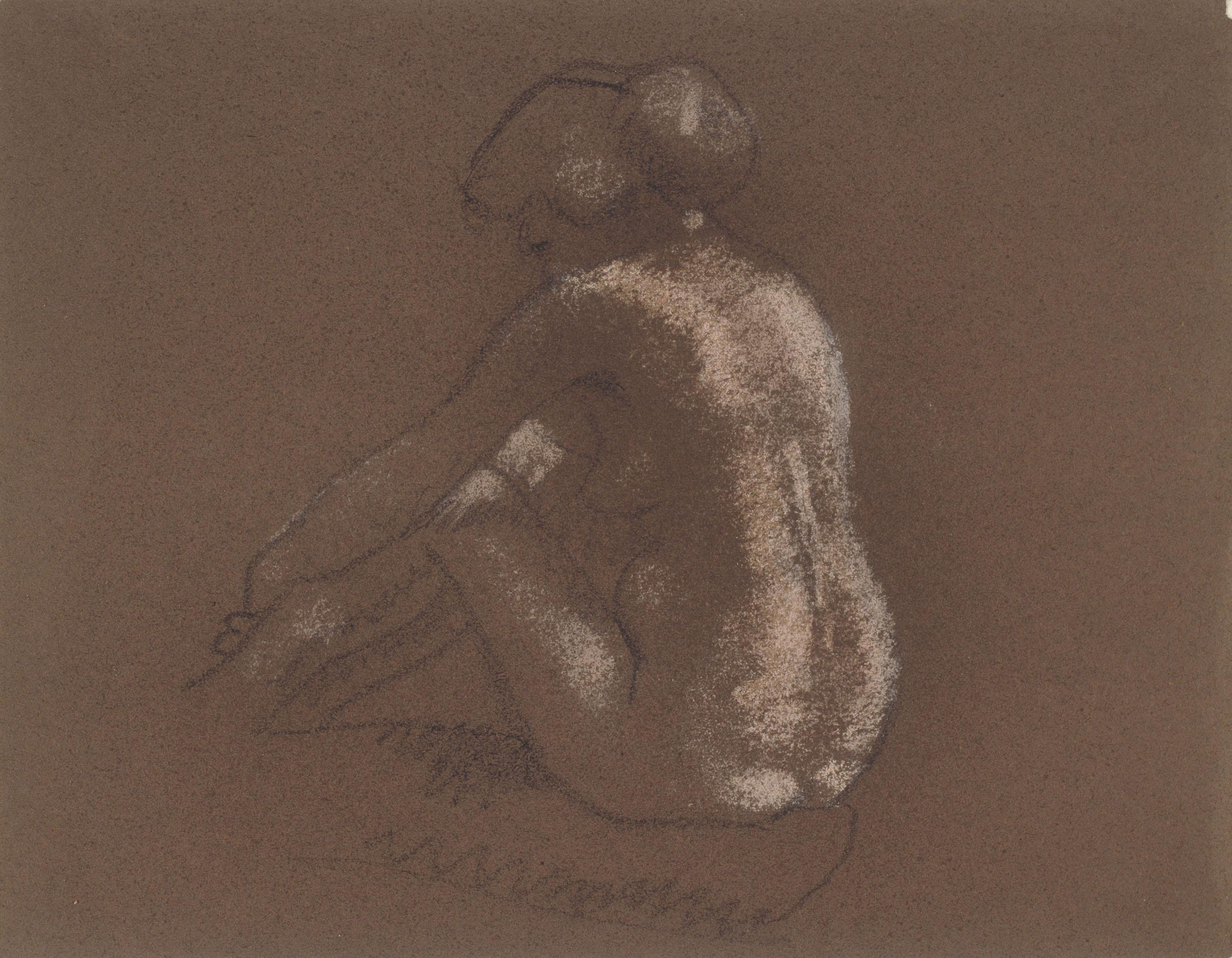 Juli González - Nu assegut d'esquena - Entre 1914-1918