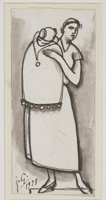 Juli González - Dona i nen (Femme et enfant) - 1928