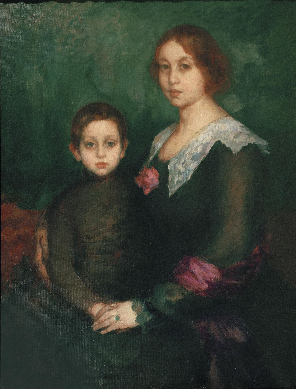Ricard Canals - Retrat de la dona i el fill de l'artista - Cap a 1912