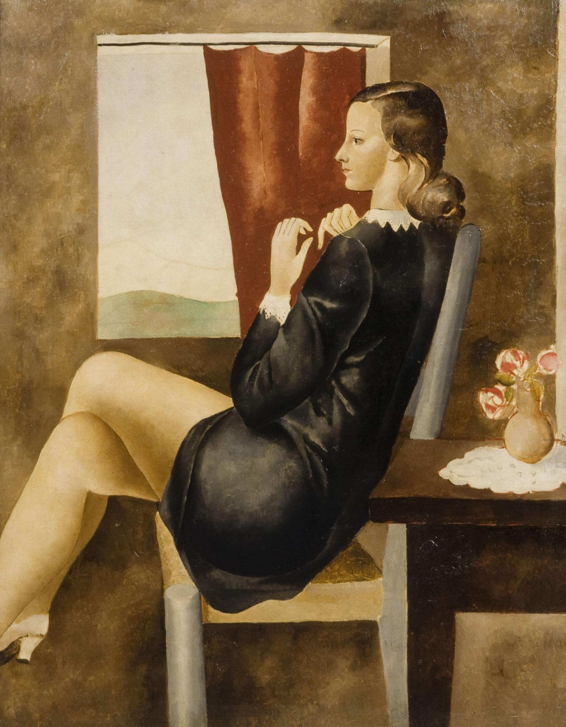 Pere Pruna - Noia vora la finestra - Cap a 1930